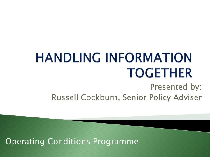 handling information together n.