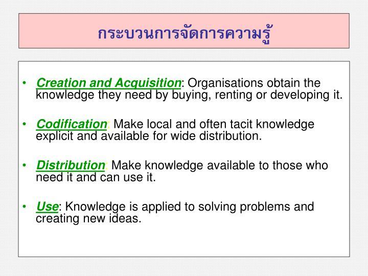 กระบวนการจัดการความรู้