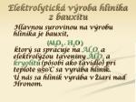 elektrolytick v roba hlin ka z bauxitu