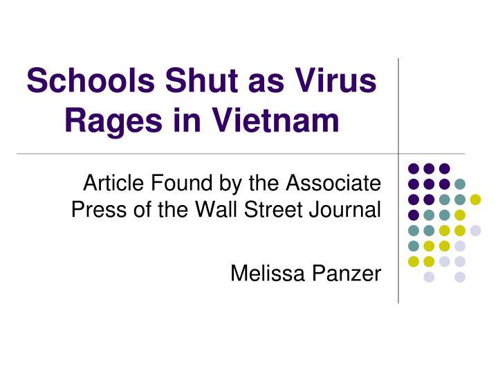 schools shut as virus rages in vietnam n.