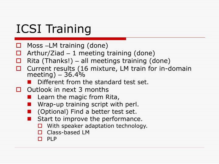 ICSI Training