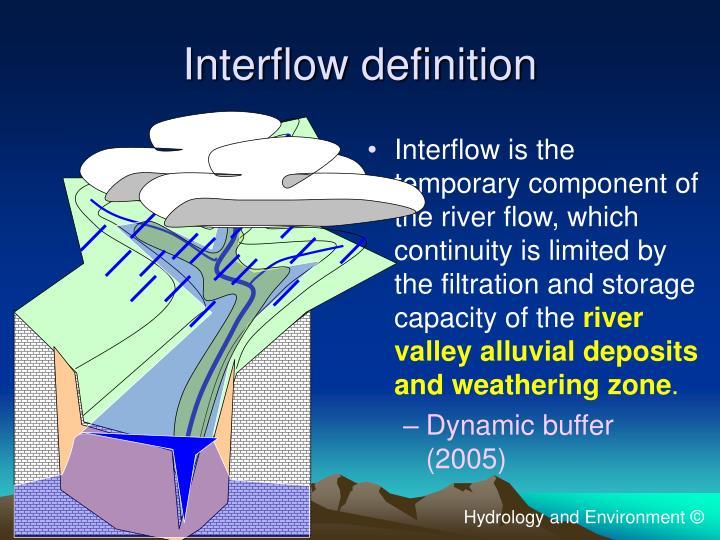 Interflow definition