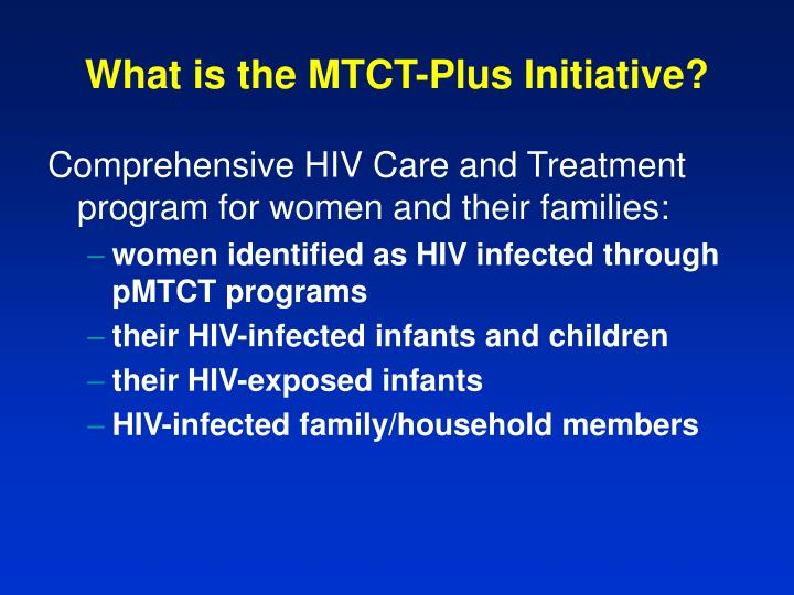 What is the mtct plus initiative