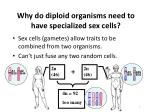 why do diploid organisms need to have specialized sex cells