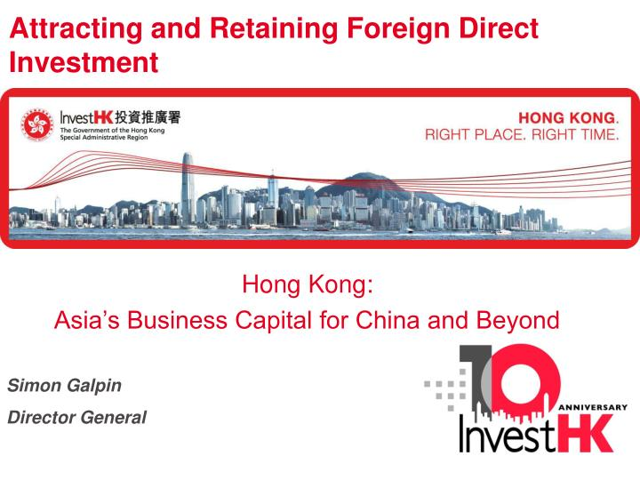 foreign direct investment in hong kong