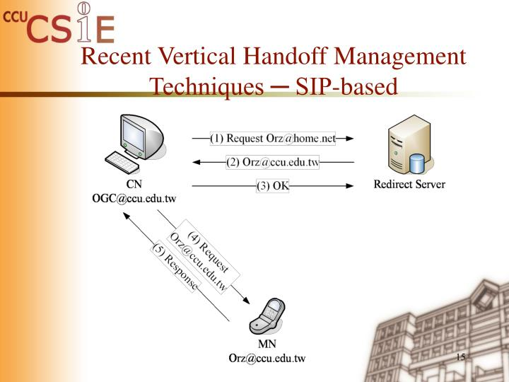 Recent Vertical Handoff Management Techniques ─ SIP-based