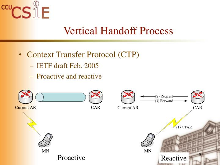 Vertical Handoff Process