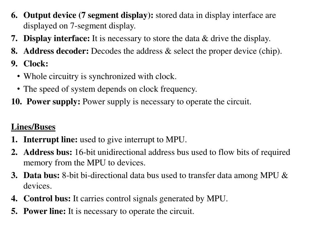 PPT - MICROPROCESSORS & ORGANIZATION OF 8085 PowerPoint Presentation