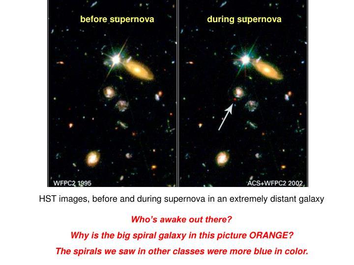 before supernova
