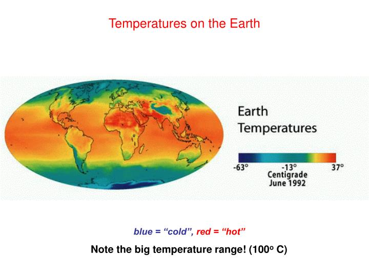 Temperatures on the Earth