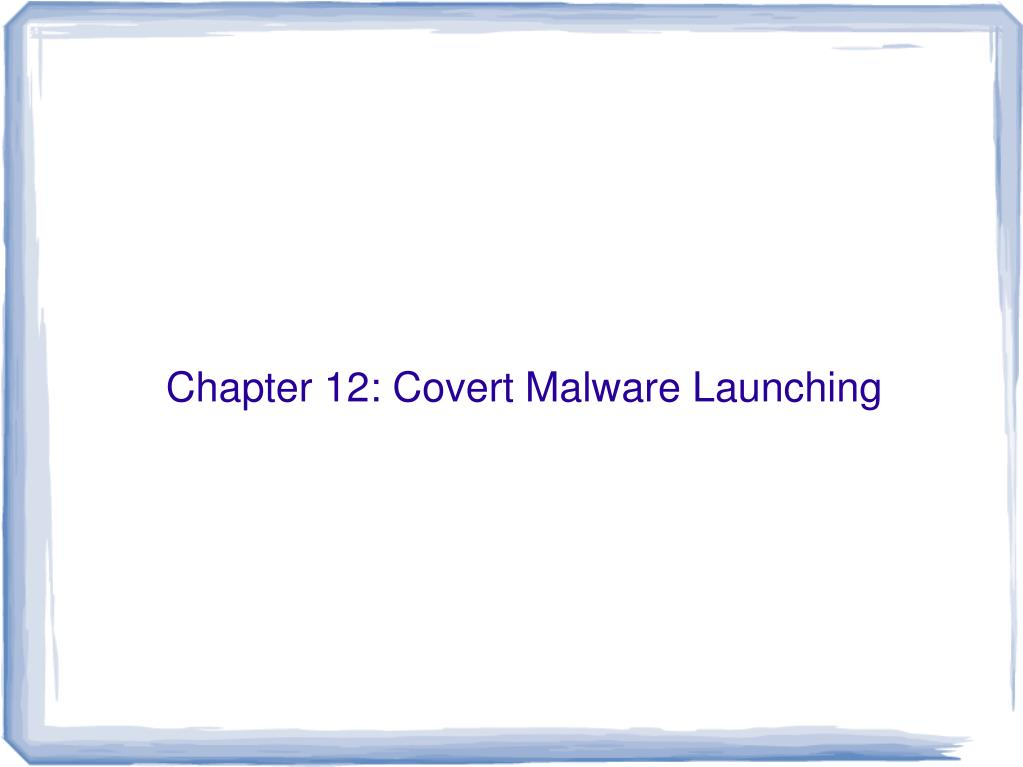 PPT - Part 4: Malware Functionality PowerPoint Presentation - ID:3543545