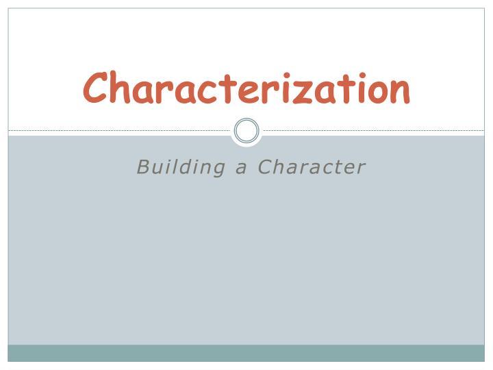 characterization n.