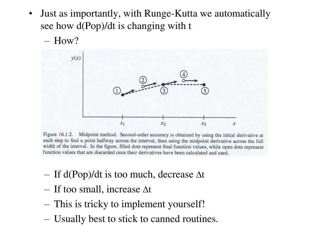 PPT - How to solve ODE's in the real world: Runge-Kutta methods