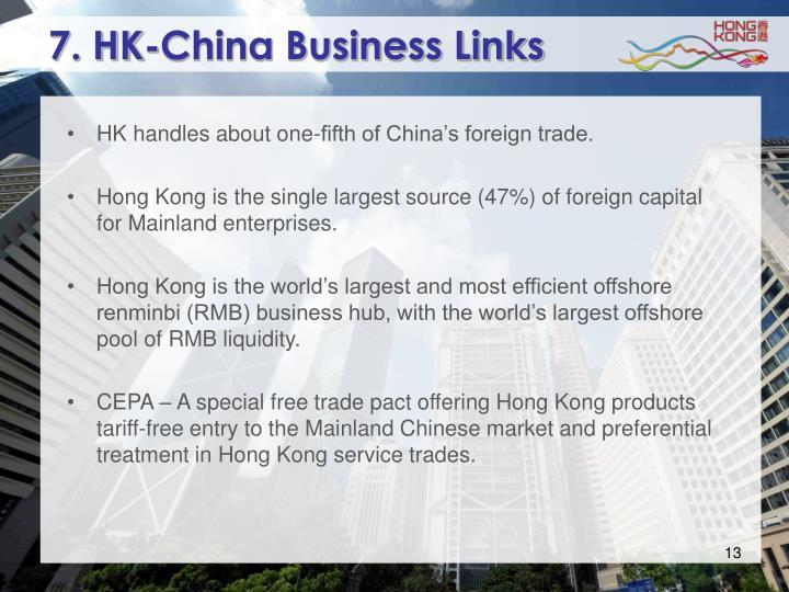 7. HK-China Business Links