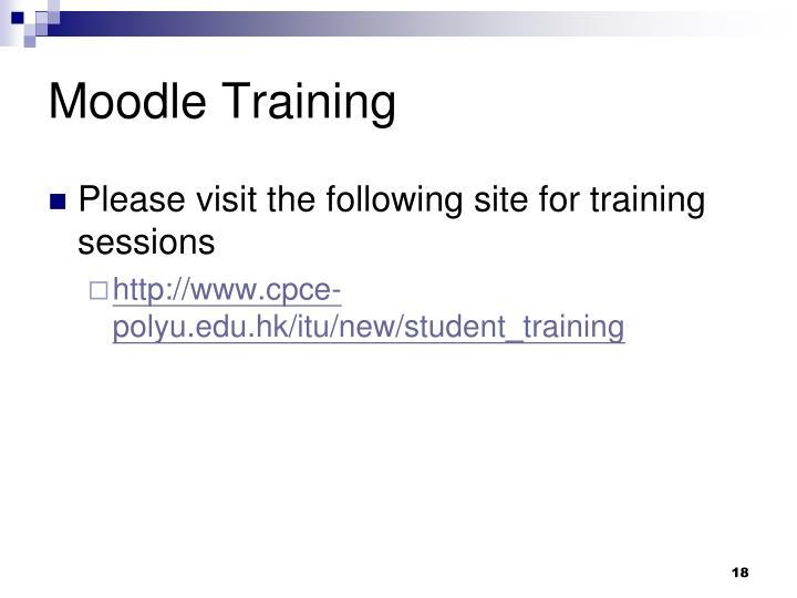 Moodle Training