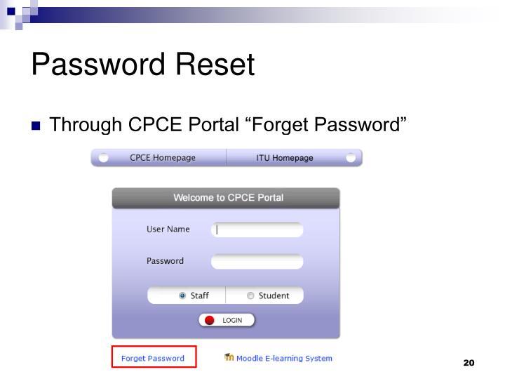 Password Reset