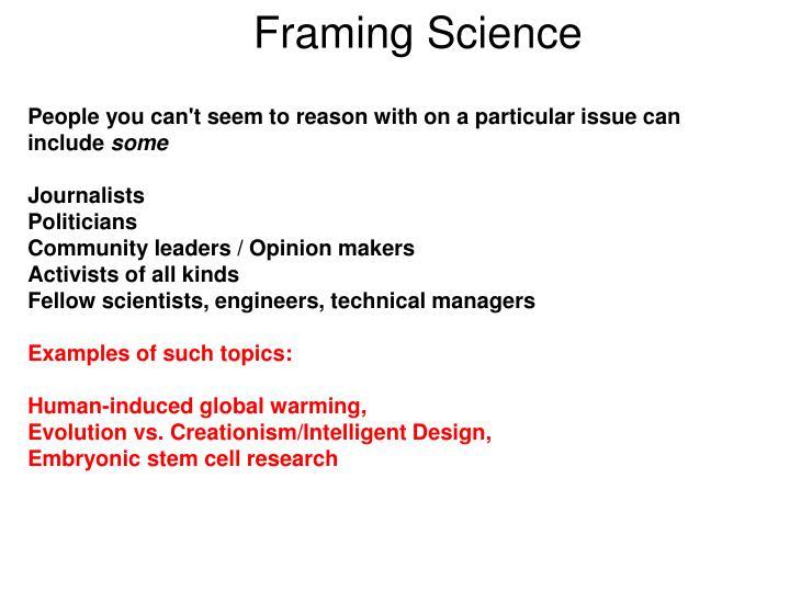 Framing Science