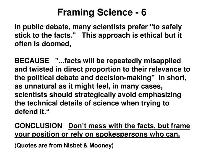 Framing Science - 6