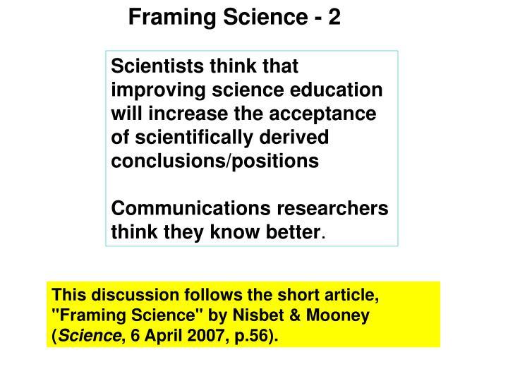Framing Science - 2