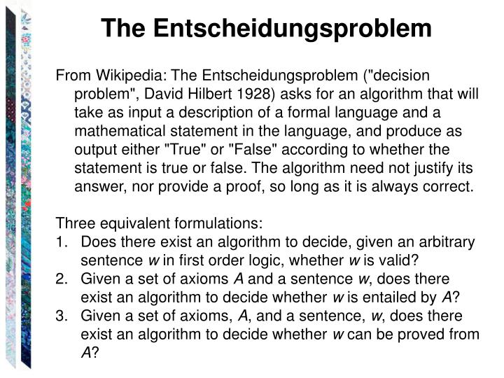The Entscheidungsproblem