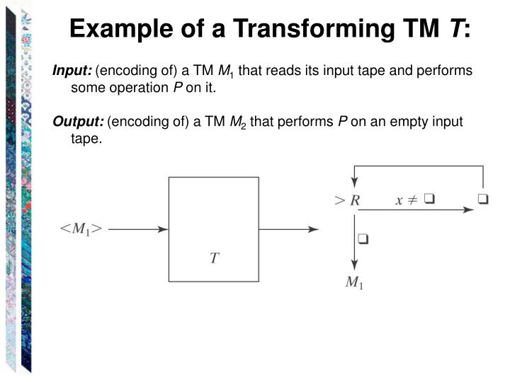 Example of a Transforming TM