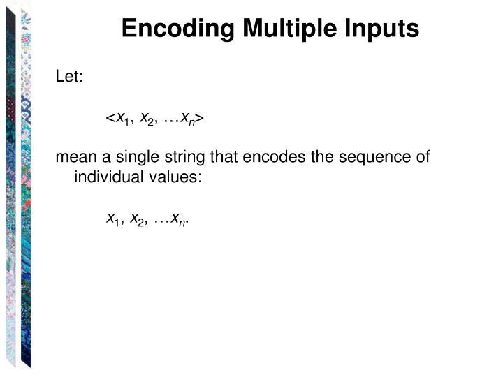 Encoding Multiple Inputs