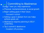 committing to abstinence