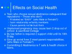 effects on social health