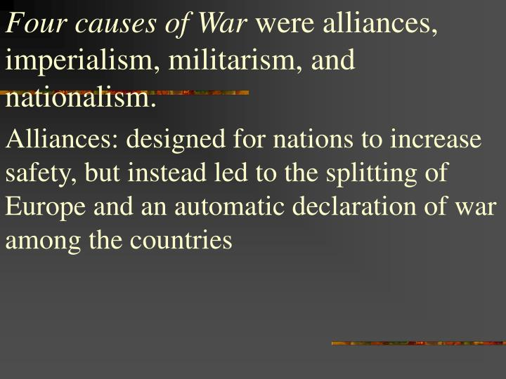Four causes of War