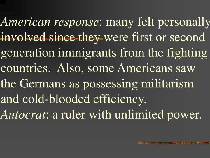 American response