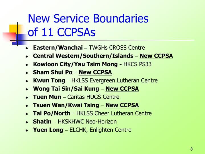 New Service Boundaries