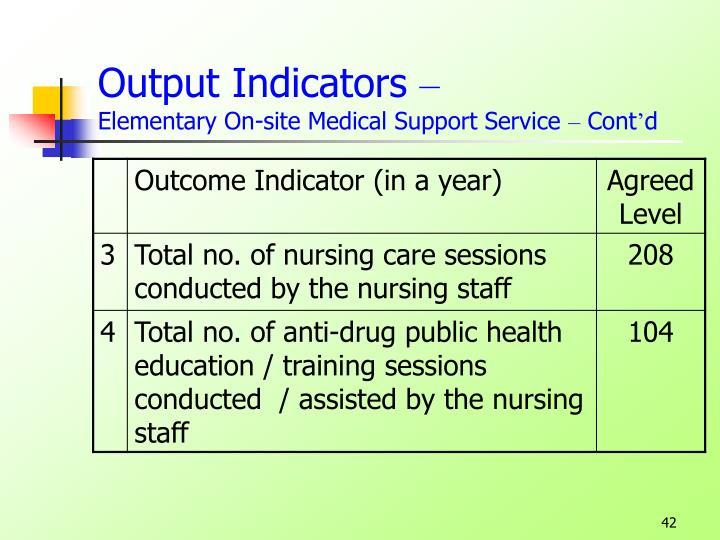 Output Indicators