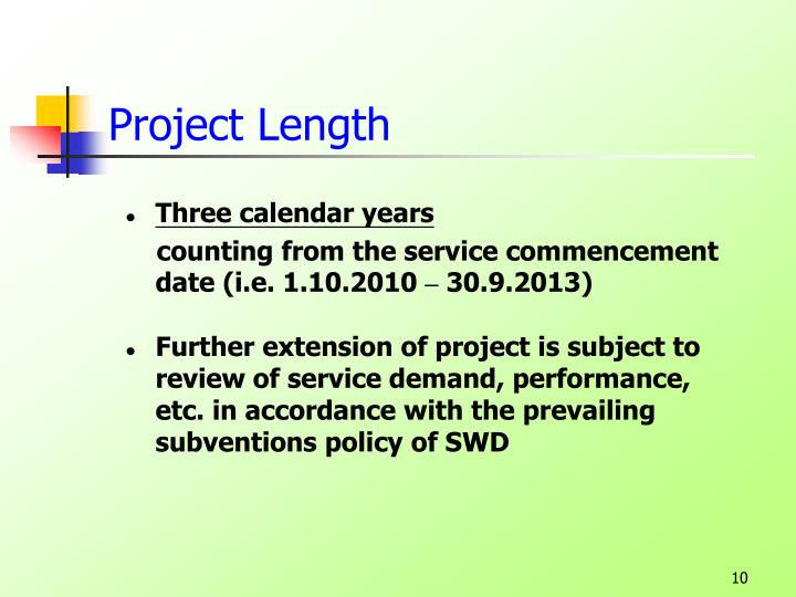 Project Length