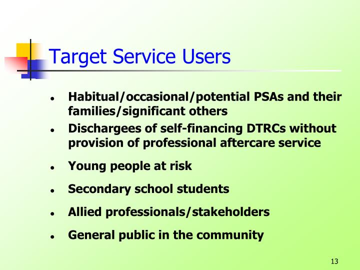 Target Service Users