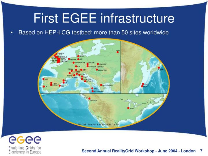 First EGEE infrastructure