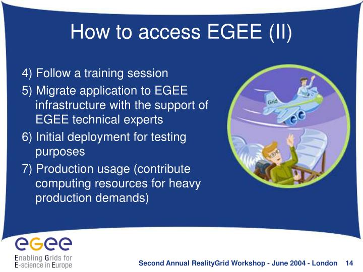 How to access EGEE (II)