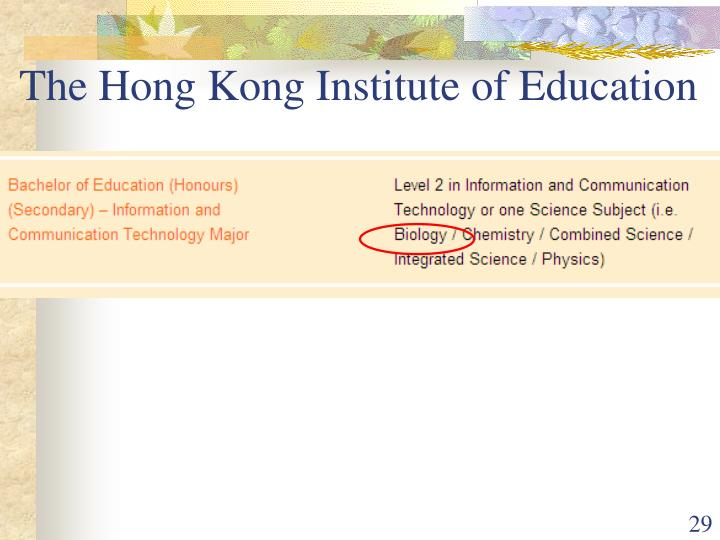 The Hong Kong Institute of Education