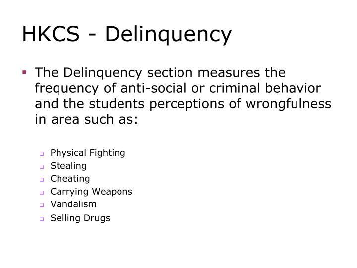 HKCS - Delinquency