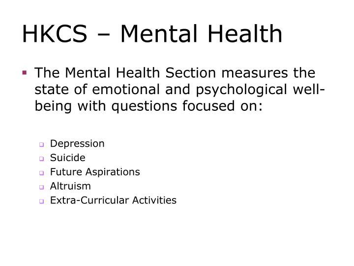 HKCS – Mental Health