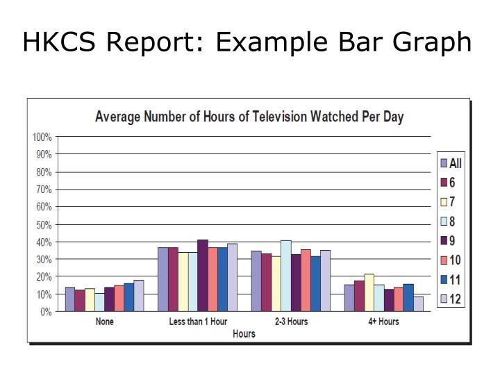 HKCS Report: Example Bar Graph
