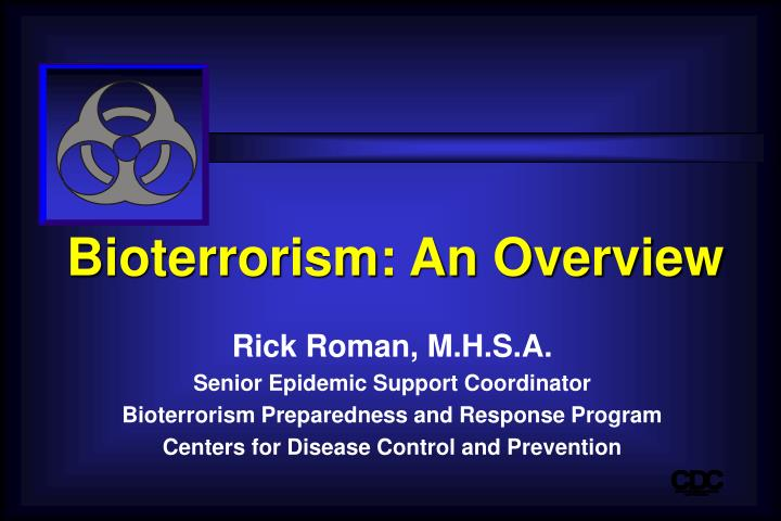 bioterrorism an overview n.