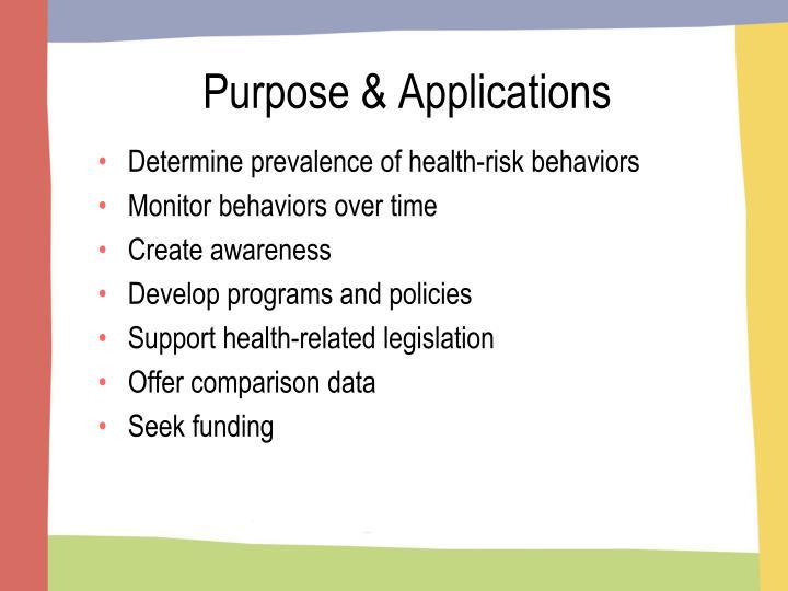 Purpose & Applications