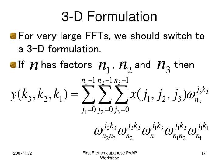 3-D Formulation