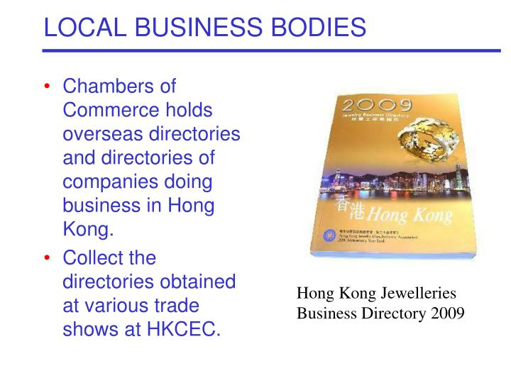 LOCAL BUSINESS BODIES