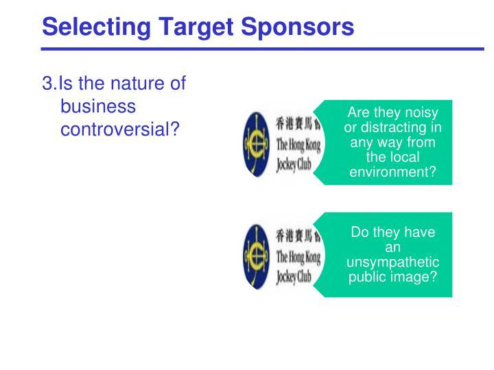 Selecting Target Sponsors