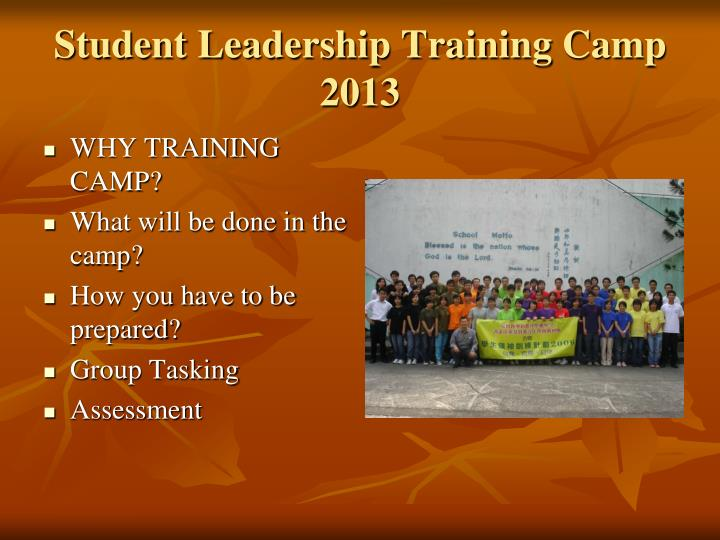 Student leadership training camp 20131