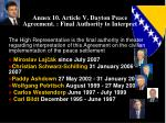 annex 10 article v dayton peace agreement final authority to interpret