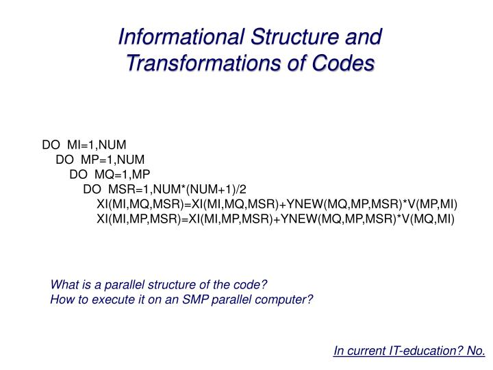Informational Structure and
