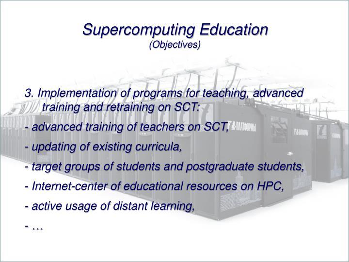 Supercomputing Education