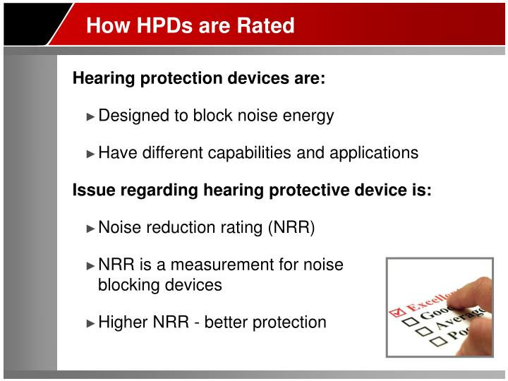 How HPDs are Rated